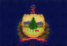 Flagga av Vermont Grunge Fotografering för Bildbyråer