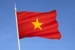 Flagga av Vietnam - South East Asia Fotografering för Bildbyråer