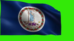 Flagga av Virginia, VA, Richmond, Virginia Beach, Juni 25 1788, stat av Amerikas förenta stater, USA tillstånd - ÖGLA