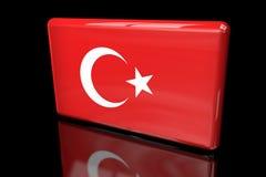 Flagga av volymetriska Turkiet 3D royaltyfri illustrationer