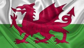 Flagga av Wales Royaltyfria Bilder