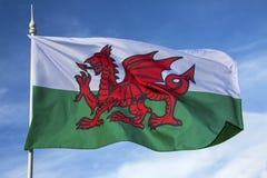 Flagga av Wales - Förenade kungariket Arkivbild