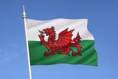 Flagga av Wales - Förenade kungariket Fotografering för Bildbyråer