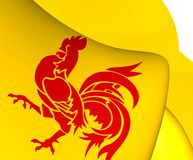 Flagga av Wallonia stock illustrationer