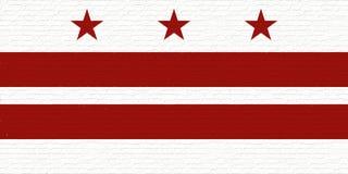 Flagga av Washington DCväggen Arkivfoto