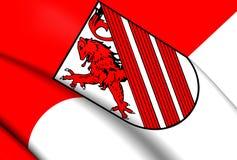 Flagga av Weyhe, Tyskland stock illustrationer
