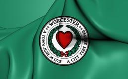 Flagga av Worcester, USA royaltyfri illustrationer