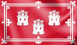 flagga 3D av Aberdeen, Skottland stock illustrationer