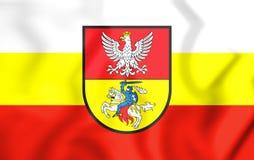 flagga 3D av Bialystok, Polen Fotografering för Bildbyråer