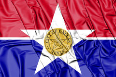 flagga 3D av Dallas City, Texas stock illustrationer