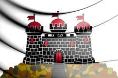 flagga 3D av Edinburg, Skottland royaltyfri illustrationer