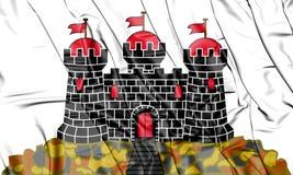 flagga 3D av Edinburg, Skottland stock illustrationer