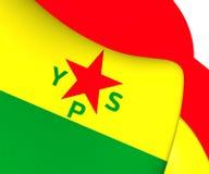 flagga 3D av enheter för borgerligt skydd royaltyfri illustrationer