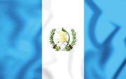 flagga 3D av Guatemala Royaltyfri Fotografi