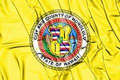 flagga 3D av Honolulu Hawaii, USA vektor illustrationer