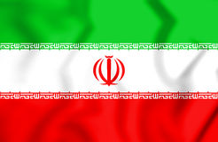 flagga 3D av Iran royaltyfri illustrationer