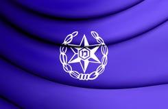 flagga 3D av Israel Police Royaltyfri Foto