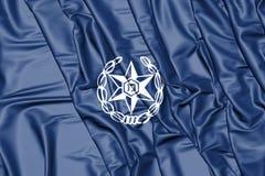 flagga 3D av Israel Police Royaltyfria Bilder