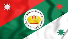 flagga 3D av Iturbides infanteri vektor illustrationer
