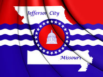flagga 3D av Jefferson City, Missouri stock illustrationer