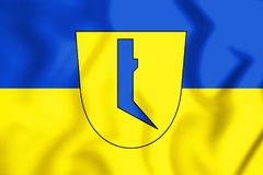 flagga 3D av Lage norr Rhen-Westphalia, Tyskland royaltyfri illustrationer