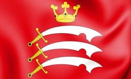 flagga 3D av Middlesex, England vektor illustrationer