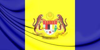 flagga 3D av Putrajaya, Malaysia Arkivbilder