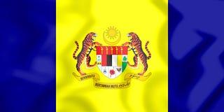 flagga 3D av Putrajaya, Malaysia Arkivbild