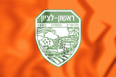 flagga 3D av Rishon LeZion, Israel Royaltyfria Foton