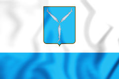 flagga 3D av Saratov, Ryssland Arkivbilder