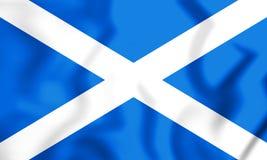 flagga 3D av Skottland stock illustrationer
