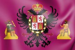 flagga 3D av Toledo City, Spanien royaltyfri illustrationer