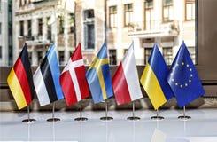 Flagga Europa, europeisk union, medborgare, symbol, emblem, union, ge Royaltyfri Foto