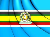 Flagga för östlig afrikansk gemenskap royaltyfri illustrationer