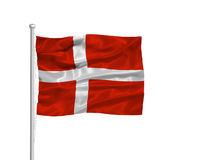 flagga för 2 denmark Royaltyfria Bilder
