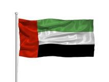 flagga för 2 förenad arabisk emirates stock illustrationer