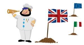 flagga för 2 kapten stock illustrationer