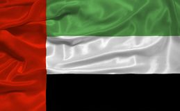 flagga för 3 förenad arabisk emirates stock illustrationer