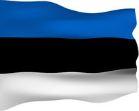 flagga för 3d estonia vektor illustrationer