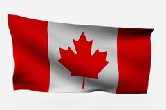 flagga för 3d Kanada Arkivfoto