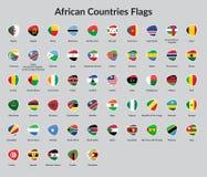 Flagga för afrikanska länder Royaltyfri Fotografi