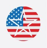 Flagga för Amerikas förenta staterUSA nationell stjärna Royaltyfria Foton