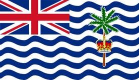Flagga för brittiskt Indiska oceanenterritorium royaltyfri illustrationer