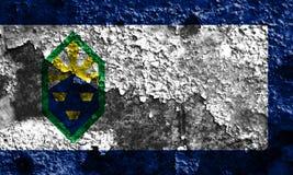 Flagga för Colorado Springs stadsrök, Colorado tillstånd, Förenta staterna Royaltyfria Foton