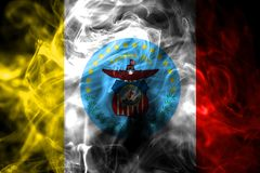Flagga för Columbus stadsrök, Ohio stat, Amerikas förenta stater royaltyfria foton