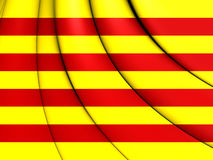flagga för 3d catalonia Vektor Illustrationer