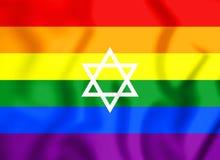 flagga för 3D LGBT av Israel stock illustrationer