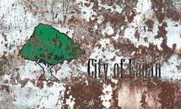Flagga för Eagan stadsrök, Minnesota stat, Amerikas förenta stater Arkivfoton