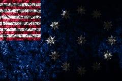 Flagga för Easton stadsgrunge, Pennsylvania stat, Amerikas förenta stater Arkivbilder