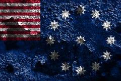 Flagga för Easton stadsrök, Pennsylvania stat, Förenta staterna av Ame Royaltyfria Bilder